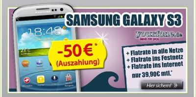 Samsung Galaxy S3 Allnet-Flat Auszahlung